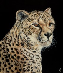 Gucci Guru by Hayley Goodhead - Original Painting on Box Canvas sized 23x27 inches. Available from Whitewall Galleries